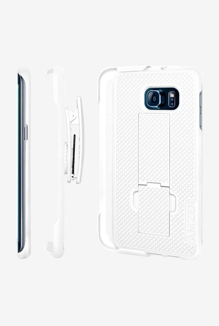 Amzer Shellster Case with Kickstand White for GalaxyS6 Edge+