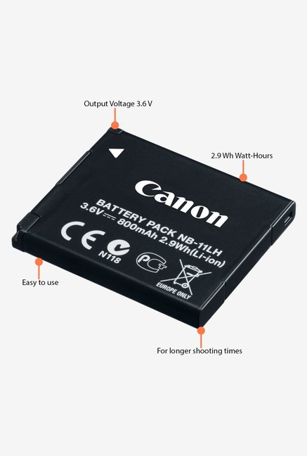 Canon Lithium-Ion NB-11LH Battery Black