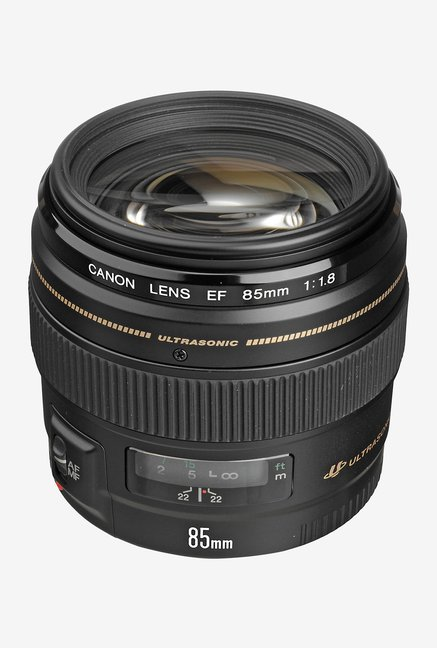 Canon EF85mm f/1.8 USM Medium Telephoto Lens  Black