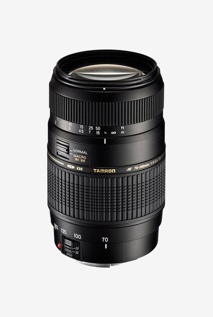 Tamron A17 AF 70 300mm F/4 5.6 Di LD MACRO 1:2 Telephoto Lens for Canon DSLR  Black