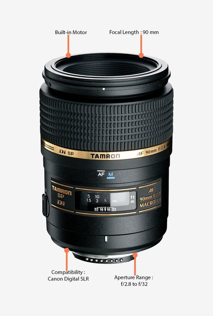 Tamron SP AF 90mm f/2.8 Di Macro 1:1 Lens for Canon DSLR