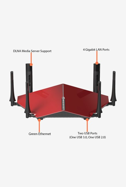 D-Link DIR-890L/R AC3200 Ultra Wi-Fi Router Red