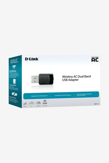 D-Link DWA-171 Wireless AC Dual Band USB Adapter Black