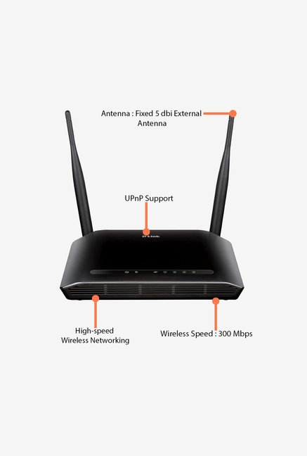 D-Link DIR-615 Wireless N 300 Home Router Black