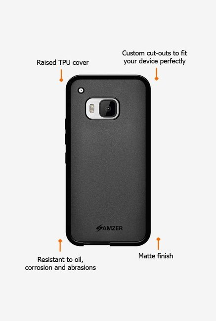 Amzer Pudding TPU Case Black for HTC One M9