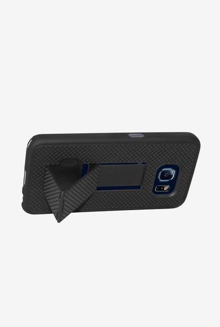 Amzer Snap On Case with Kickstand Black for Samsung S6