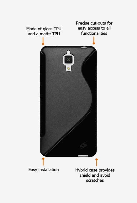 Amzer TPU Hybrid Case Black for Mi 4