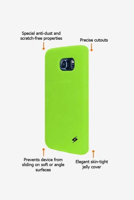 Amzer Silicone Skin Jelly Case Green for Samsung S6 edge