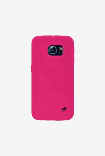 Amzer Silicone Skin Jelly Case Hot Pink for Samsung S6 edge
