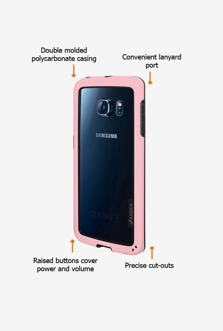 Amzer Border Case Pink for Samsung S6 edge