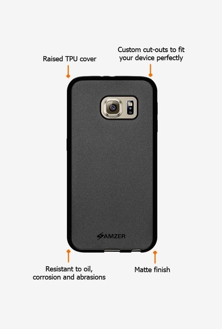 Amzer Pudding TPU Case Black for Samsung S6