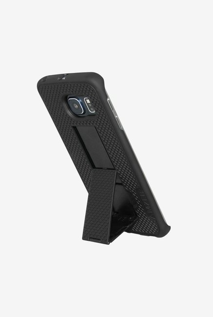 Amzer Snap On Case with Kickstand Black for Samsung S6 edge