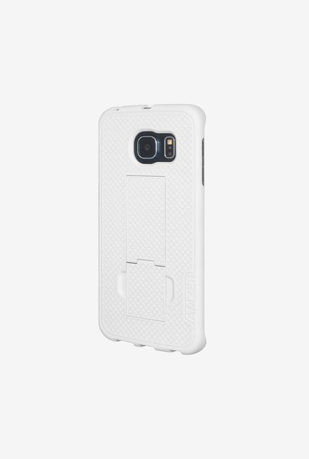 Amzer Snap On Case with Kickstand White for Samsung S6 edge