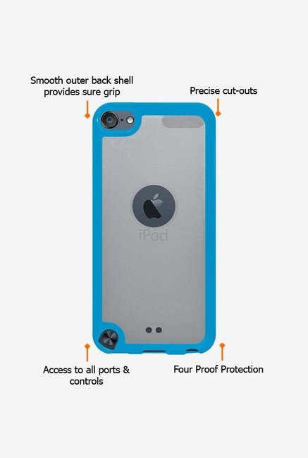 Amzer SlimGrip Hybrid Case Cloudy & Blue for iPod Touch