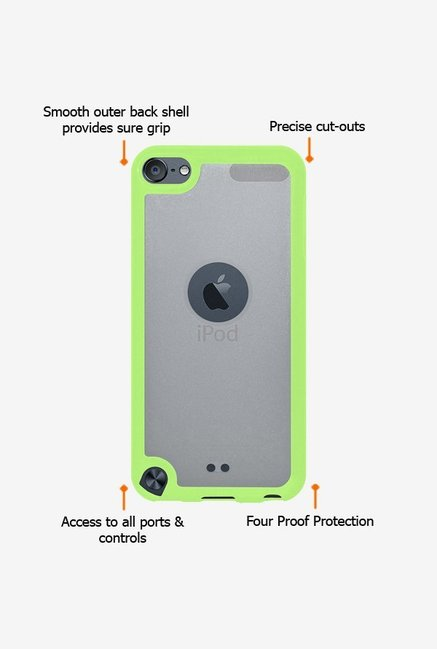 Amzer SlimGrip Hybrid Case Cloudy & Green for iPod Touch