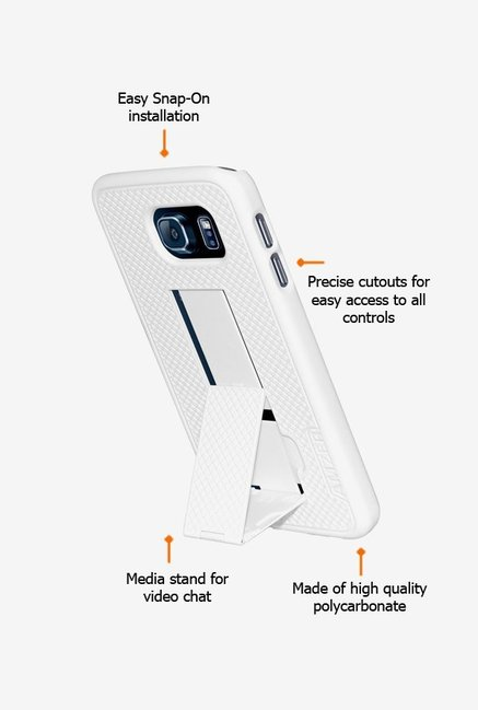 Amzer Snap On Case with Kickstand White for Samsung S6