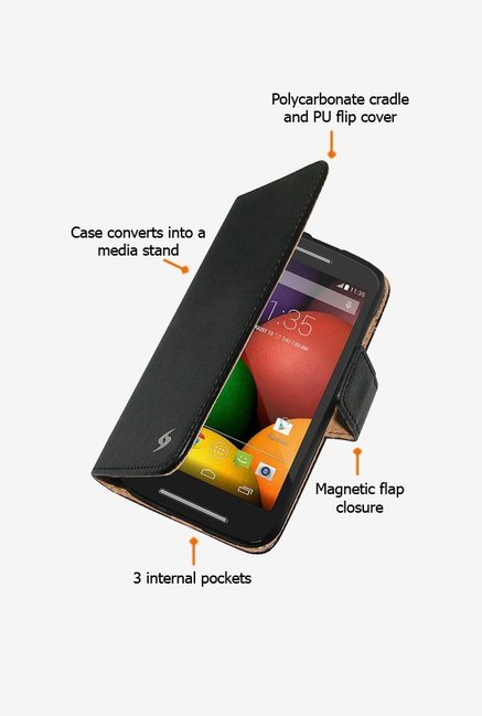 Amzer Flip Case Black for Moto E