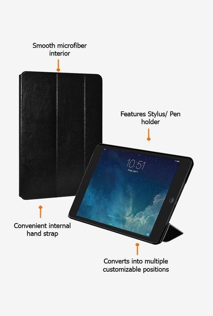 Amzer Shell Portfolio Case Black for iPad mini