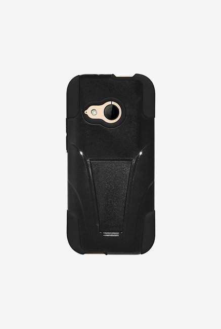 Amzer Dual Layer Hybrid Case Black for HTC One Mini 2
