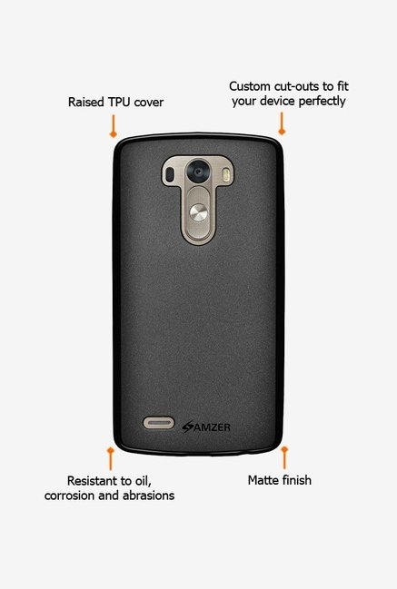 Amzer Pudding TPU Case Black for LG G3