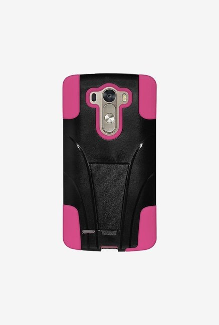 Amzer Dual Layer Hybrid Case Black & Hot Pink for LG G3
