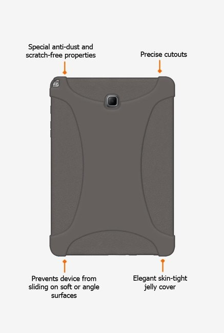 Amzer Silicone Skin Jelly Case Grey for Samsung Tab A