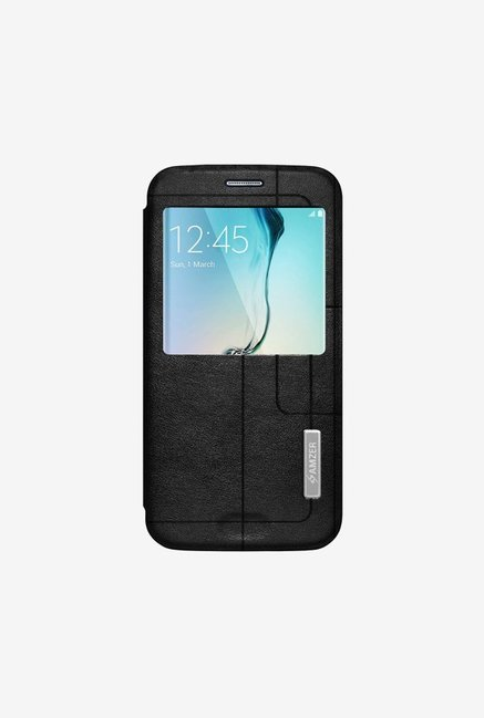 Amzer Flip Case with Quick View Black for Samsung S6 edge
