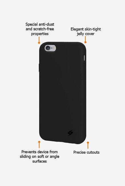 Amzer Silicone Skin Jelly Case Black for iPhone 6+