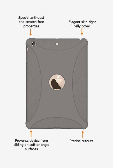 Amzer Silicone Skin Jelly Case Grey for iPad mini 3