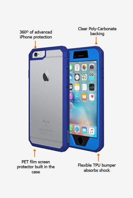 Amzer Full Body Hybrid Case Blue for iPhone 6