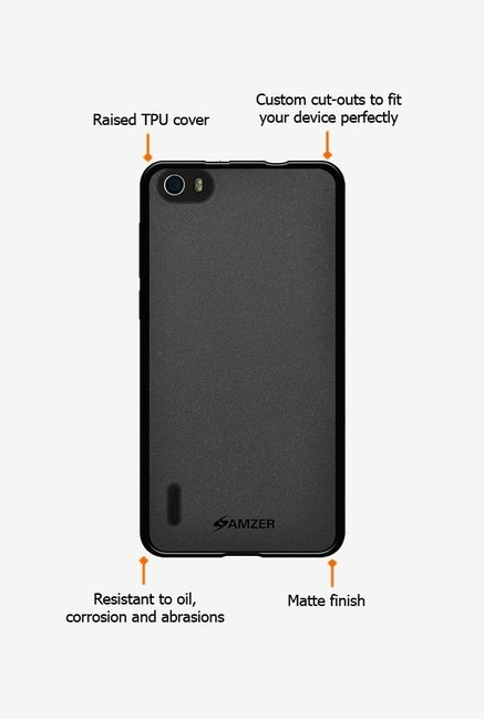Amzer Pudding TPU Case Black for Huawei Honor 6