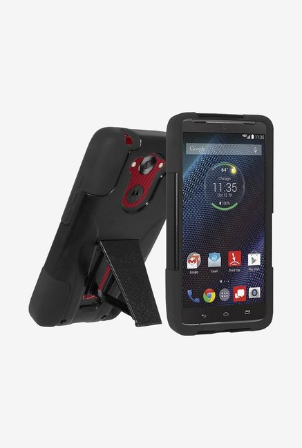 Amzer Dual Layer Hybrid Case Black for Motorola DROID Turbo