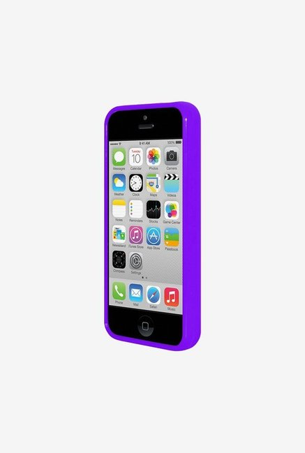 Amzer SlimGrip Hybrid Case Cloudy & Purple for iPhone 5C