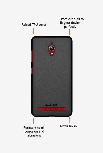 Amzer Pudding TPU Case Black for Zenfone Go