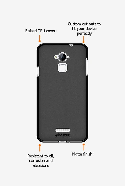 Amzer Pudding TPU Case Black for Coolpad Dazen Note 3