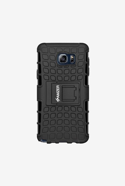 Amzer Hybrid Warrior Case Black for Samsung Note 5