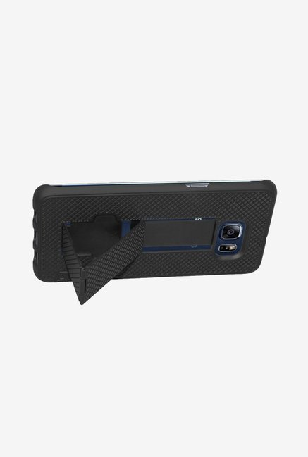 Amzer Snap On Case with Kickstand Black for Samsung S6 edge+