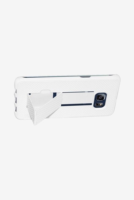 Amzer Snap On Case with Kickstand White for Samsung S6 edge+