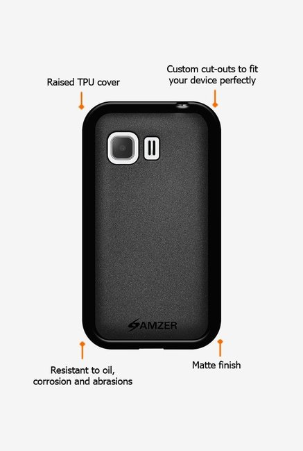 Amzer Pudding TPU Case Black for Samsung Young 2