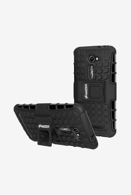 Amzer Hybrid Warrior Case Black for Zenfone 2