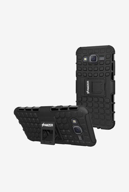 Amzer Hybrid Warrior Case Black for Samsung J7