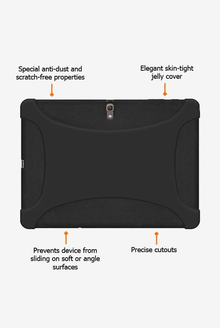 Amzer Silicone Skin Jelly Case Black for Samsung Tab S