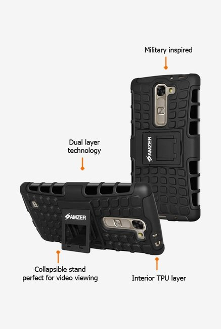 Amzer Hybrid Warrior Case Black for LG G4c