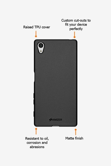 Amzer Pudding TPU Case Black for Xperia Z5