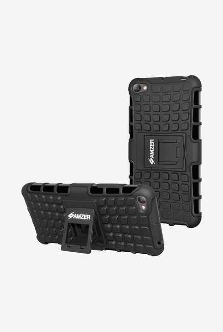 Amzer Hybrid Warrior Case Black for Lenovo S60