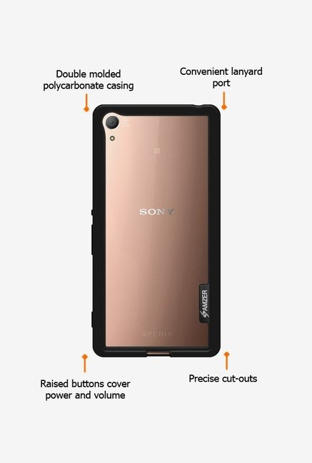 Amzer Border Case Black for Xperia Z3+