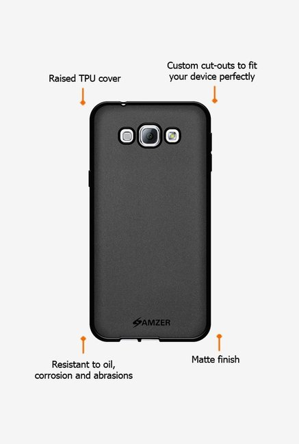 Amzer Pudding TPU Case Black for Samsung A8