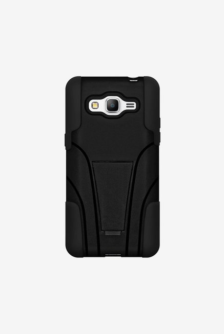 Amzer Dual Layer Hybrid Case Black for Samsung Grand Prime