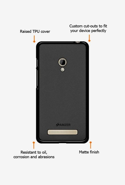 Amzer Pudding TPU Case Black for Zenfone 5