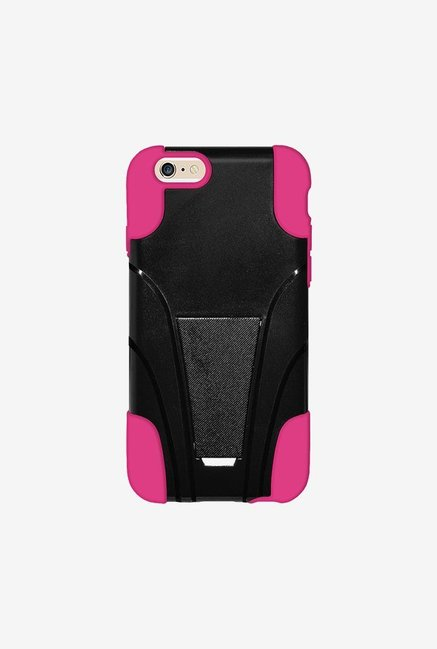Amzer Dual Layer Hybrid Case Black & Hot Pink for iPhone 6